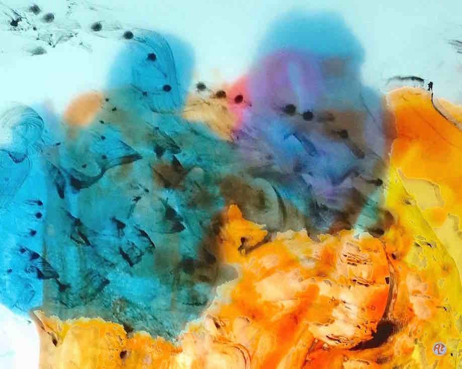 Trails of colour