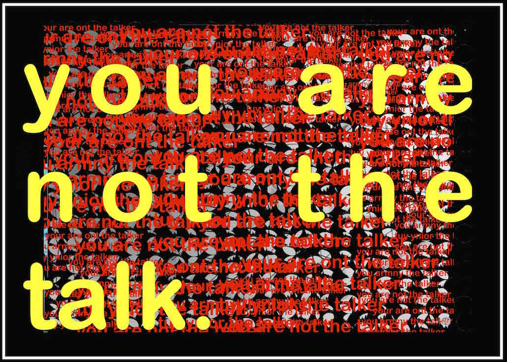 you are not….
