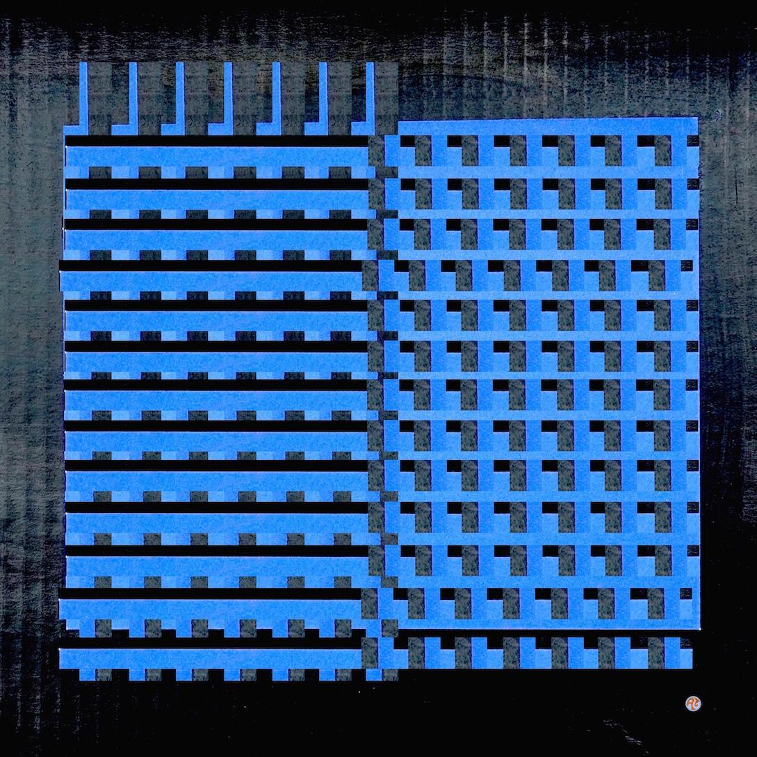 black cardboard bluepaper