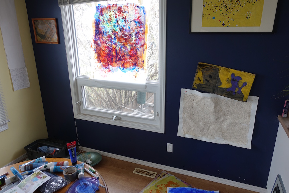 painting the windows …..