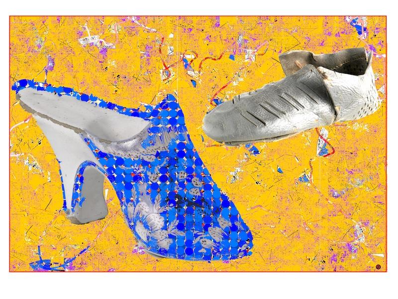 W.'s blue shoe
